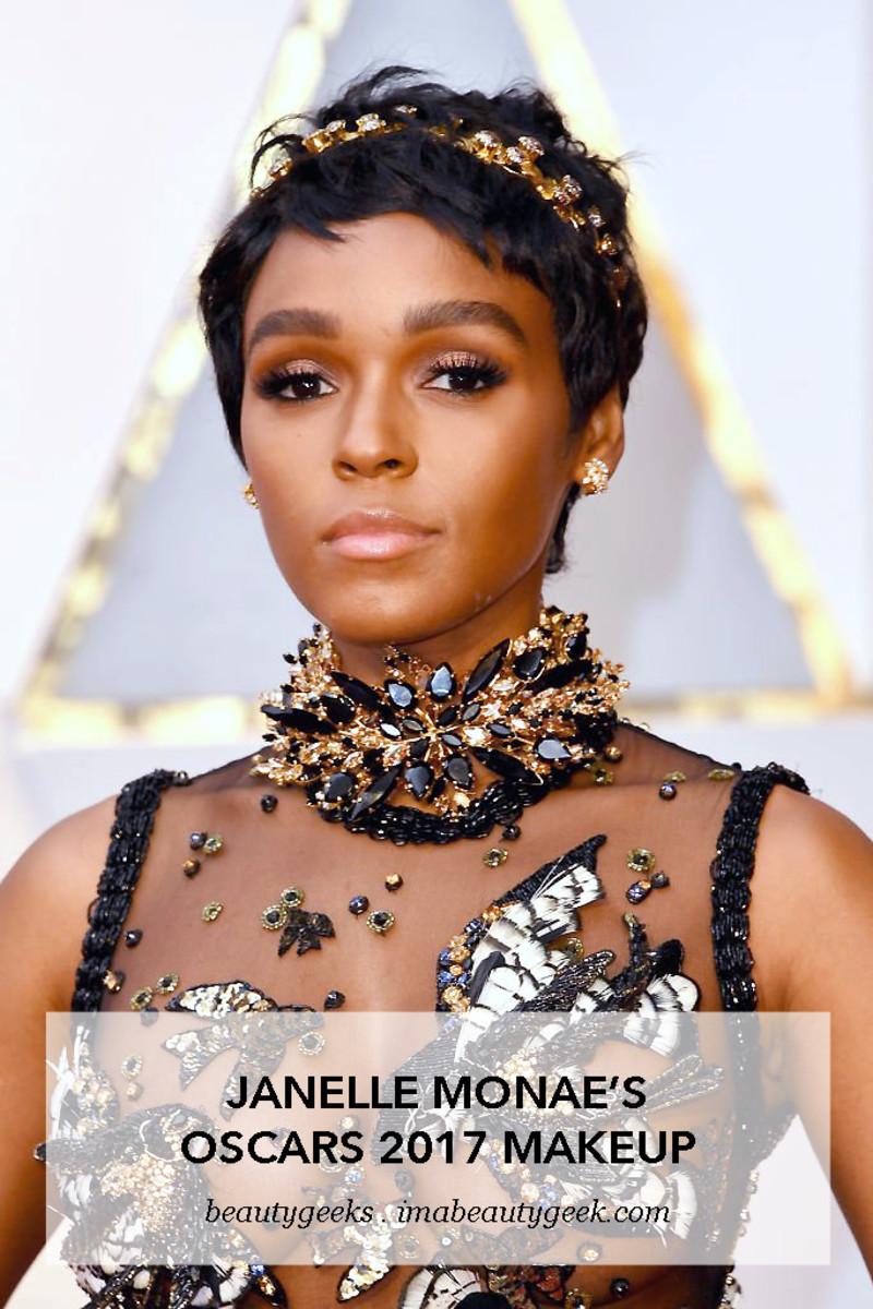 Janelle Monae_Oscars 2017_makeup_opener