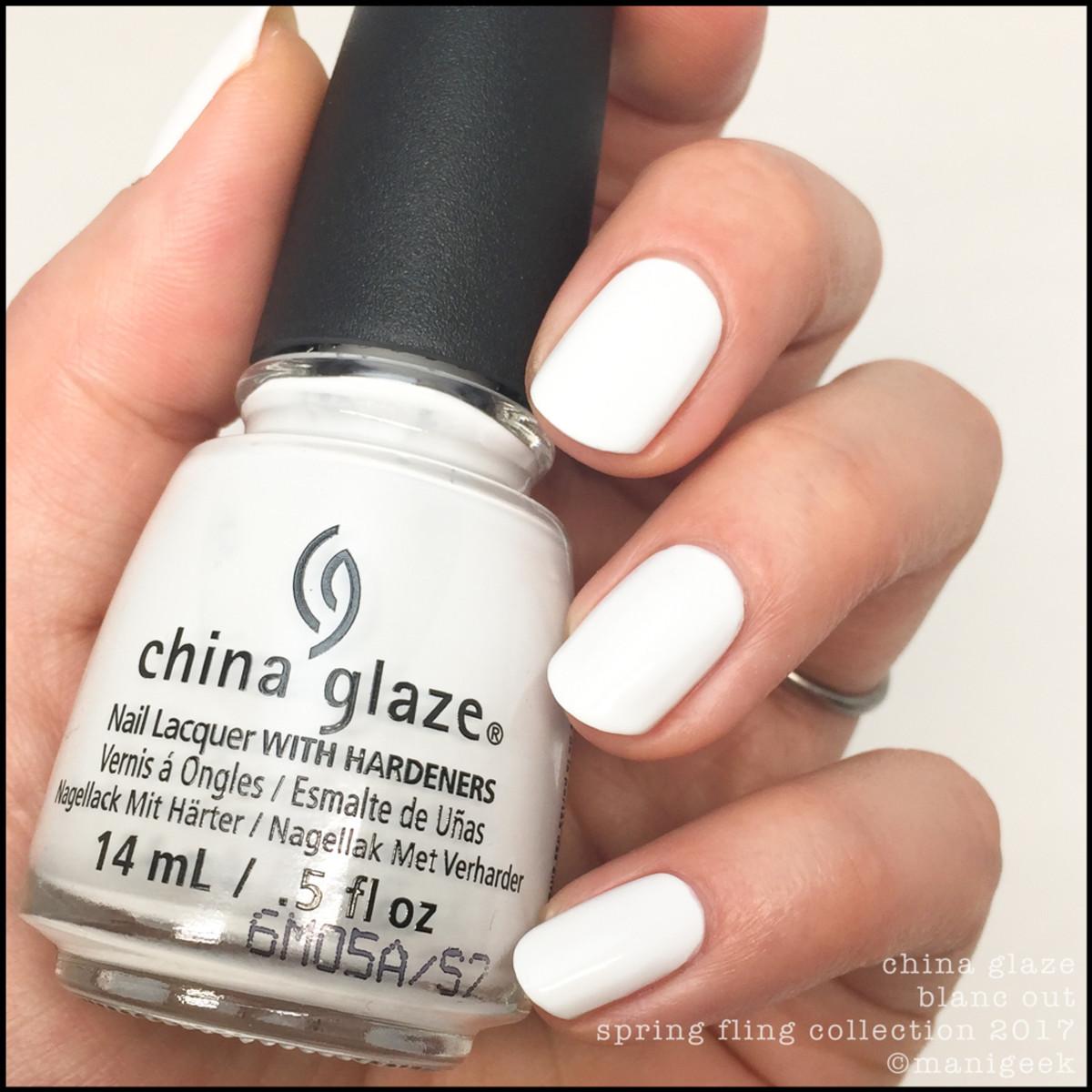 China Glaze Blanc Out 1_China Glaze Spring Fling 2017