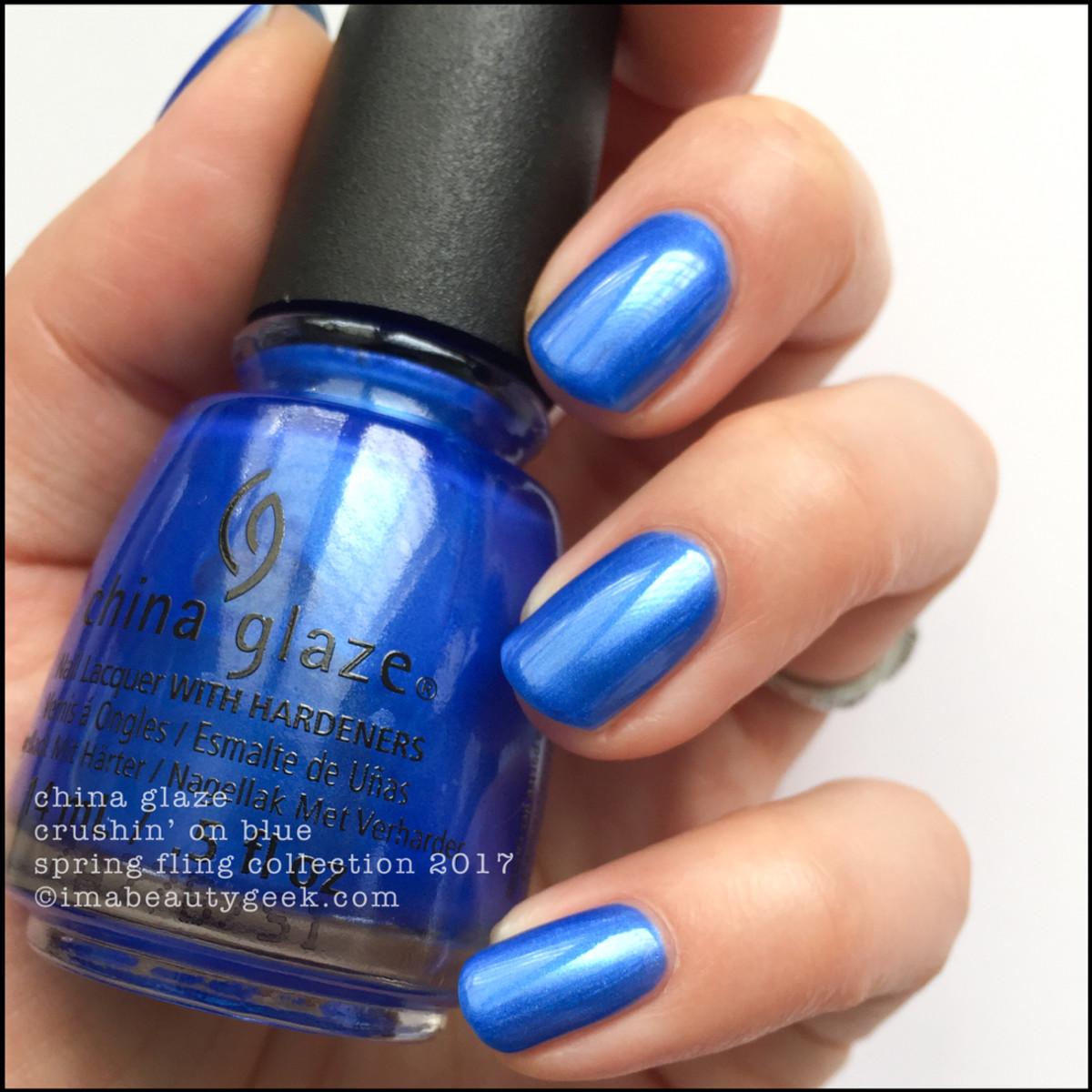 China Glaze Crushin on Blue_China Glaze Spring Fling Collection Swatches