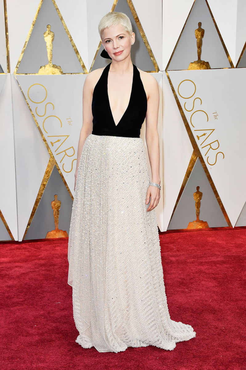 Michelle Williams in Louis Vuitton at the 2017 Academy Awards