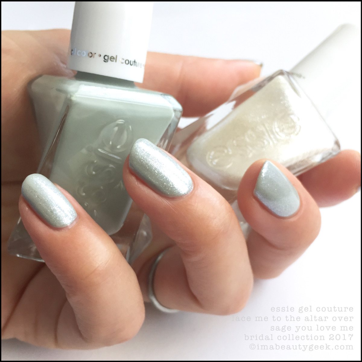 Essie Bridal 2017_Essie Lace to the Altar over Sage You Love Me