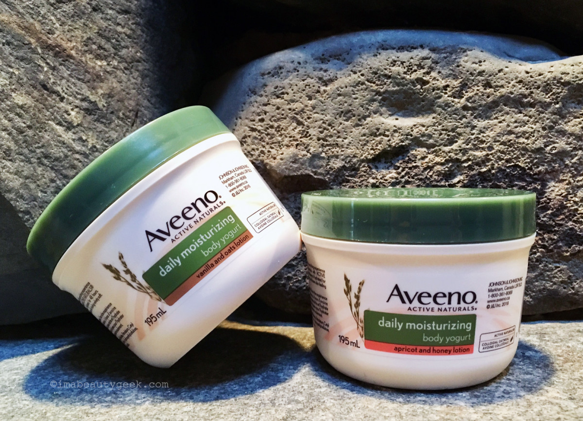 Aveeno Daily Moisturizing Body Yogurt in Vanilla & Oats and Apricot & Honey