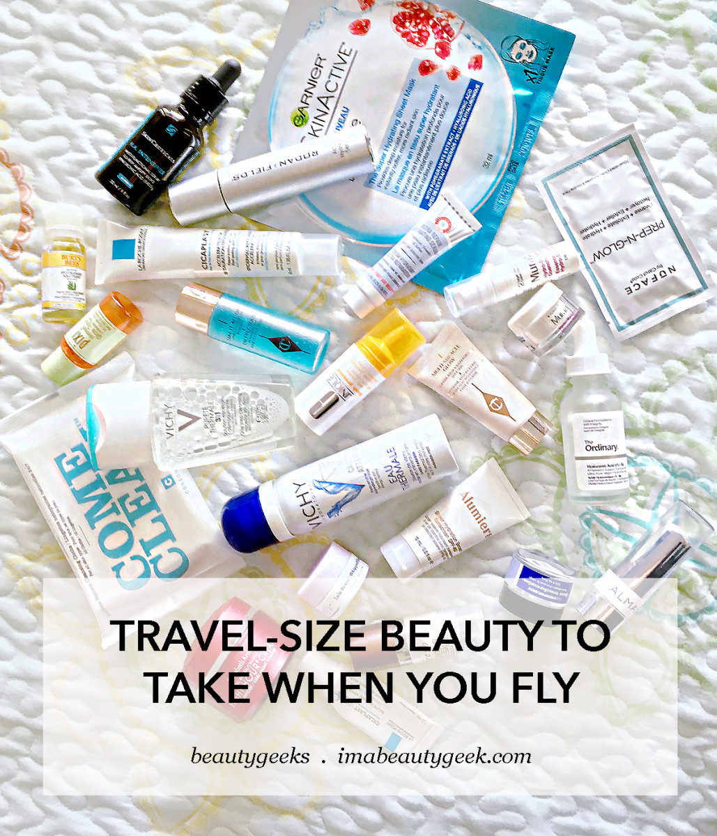 Travel-size skincare to take in your carry-on