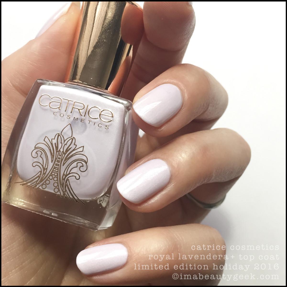 Catrice Royal Lavendera Nail Polish with Top Coat
