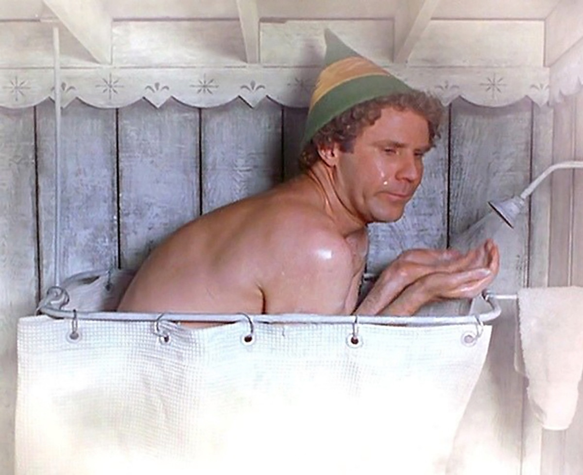 Buddy the Elf: no hot showers if you have eczema