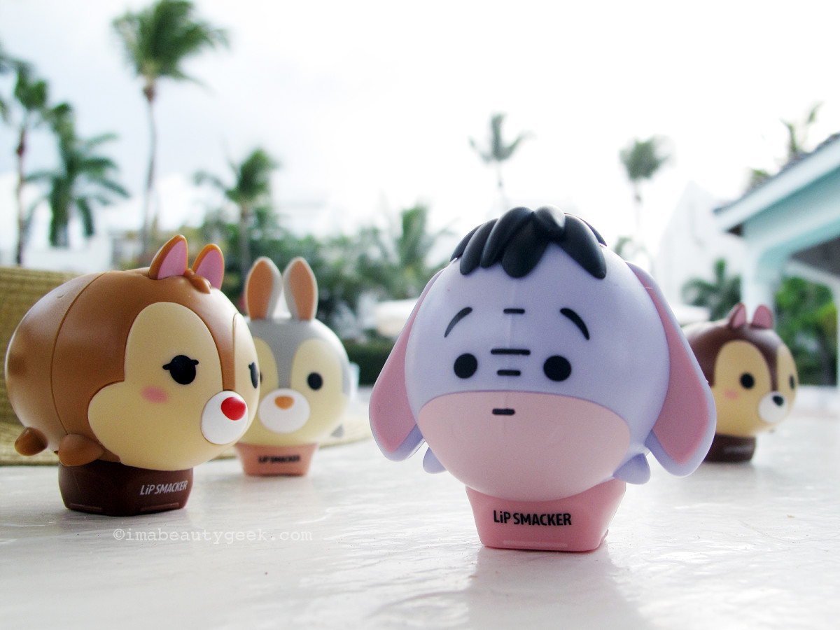 Lip Smacker Tsum Tsum Balms: Dale, Thumper, Eyore and Chip collectable packaging