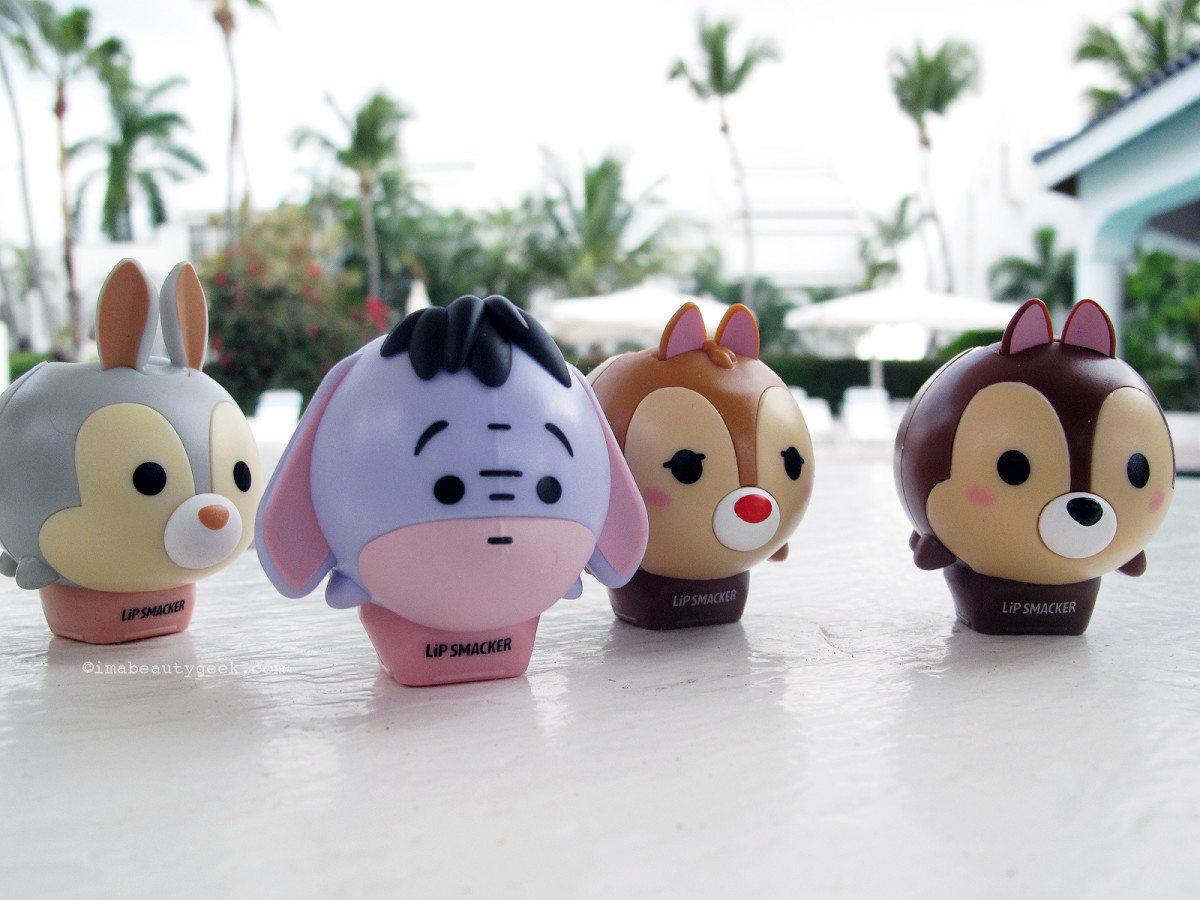 Lip Smacker Tsum Tsum Balms: from left, Thumper, Eyore, Dale and Chip