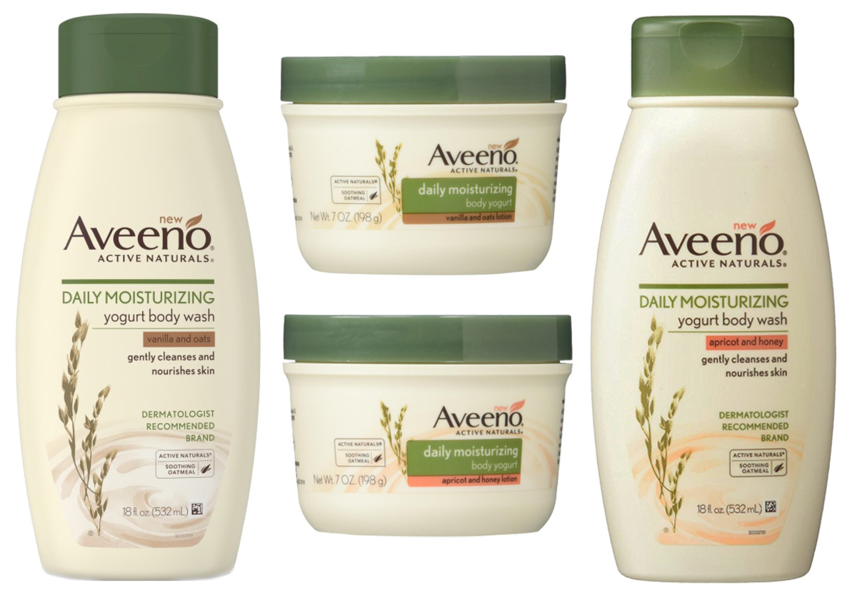 Aveeno Daily Moisturizing Yogurt Body Wash and Body Yogurt