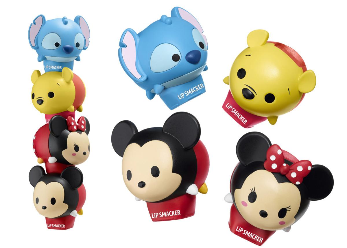 Lip Smacker Tsum Tsum balms: Stitch, Winnie, Mickey and Minnie