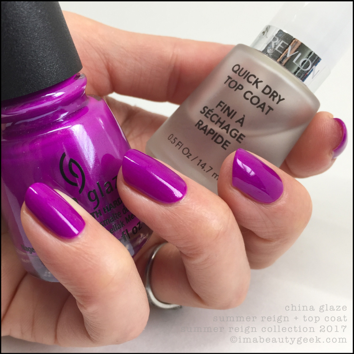 China Glaze Summer Reign w Top Coat