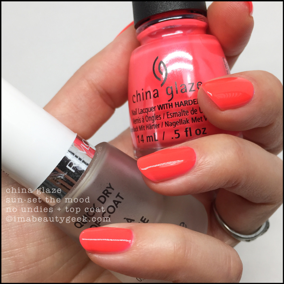 China Glaze Sunset the Mood w Top Coat