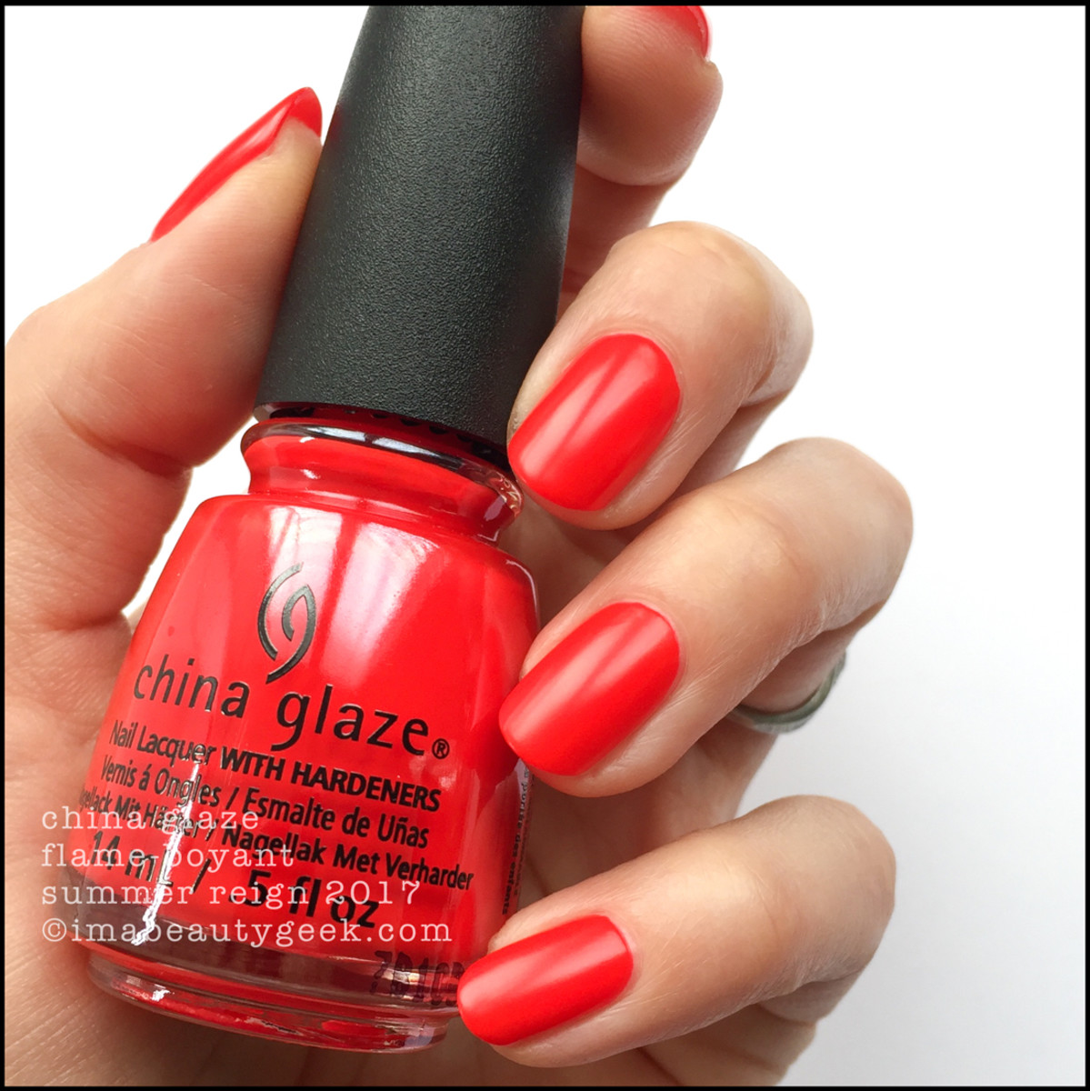 China Glaze FlameBoyant no top coat