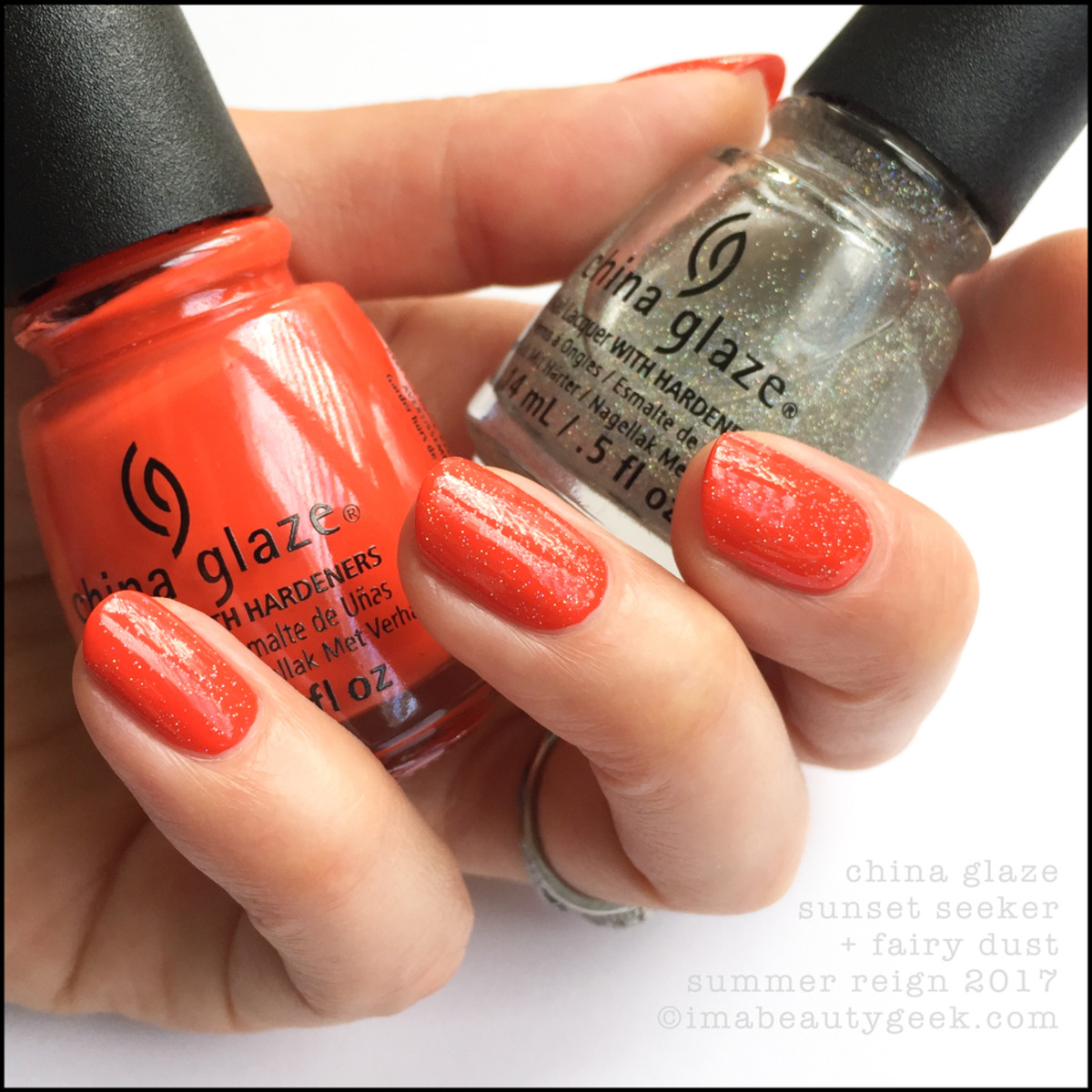 China Glaze Sunset Seeker w Fairy Dust