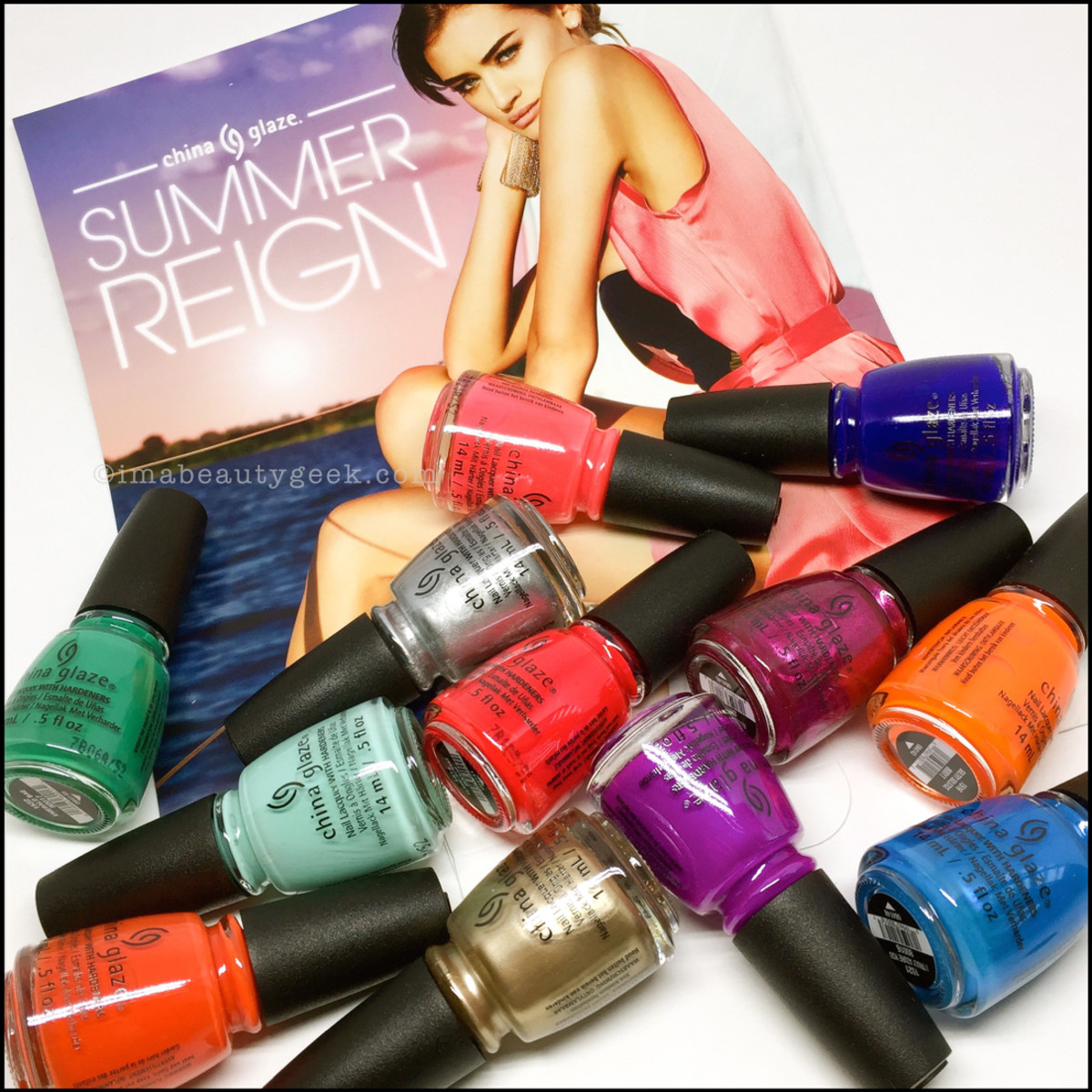 China Glaze Summer Reign 2017 Collection Swatches Review Open