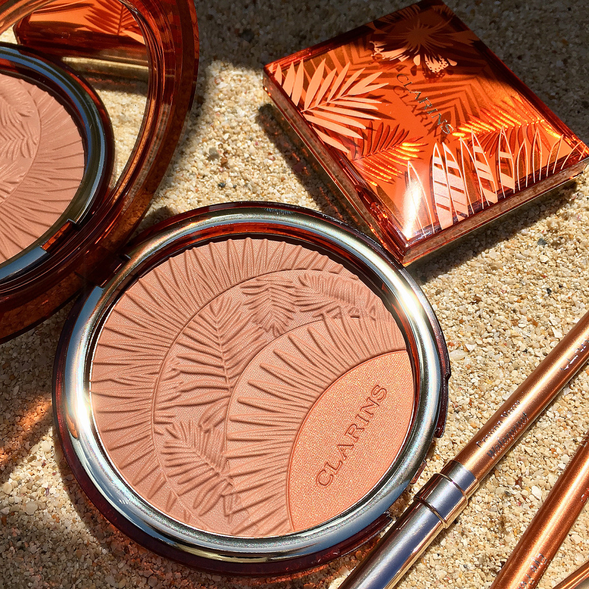 Clarins Summer 2017 Bronzer & Blush compact, eyeshadow compact, waterproof liners in Gold and Copper