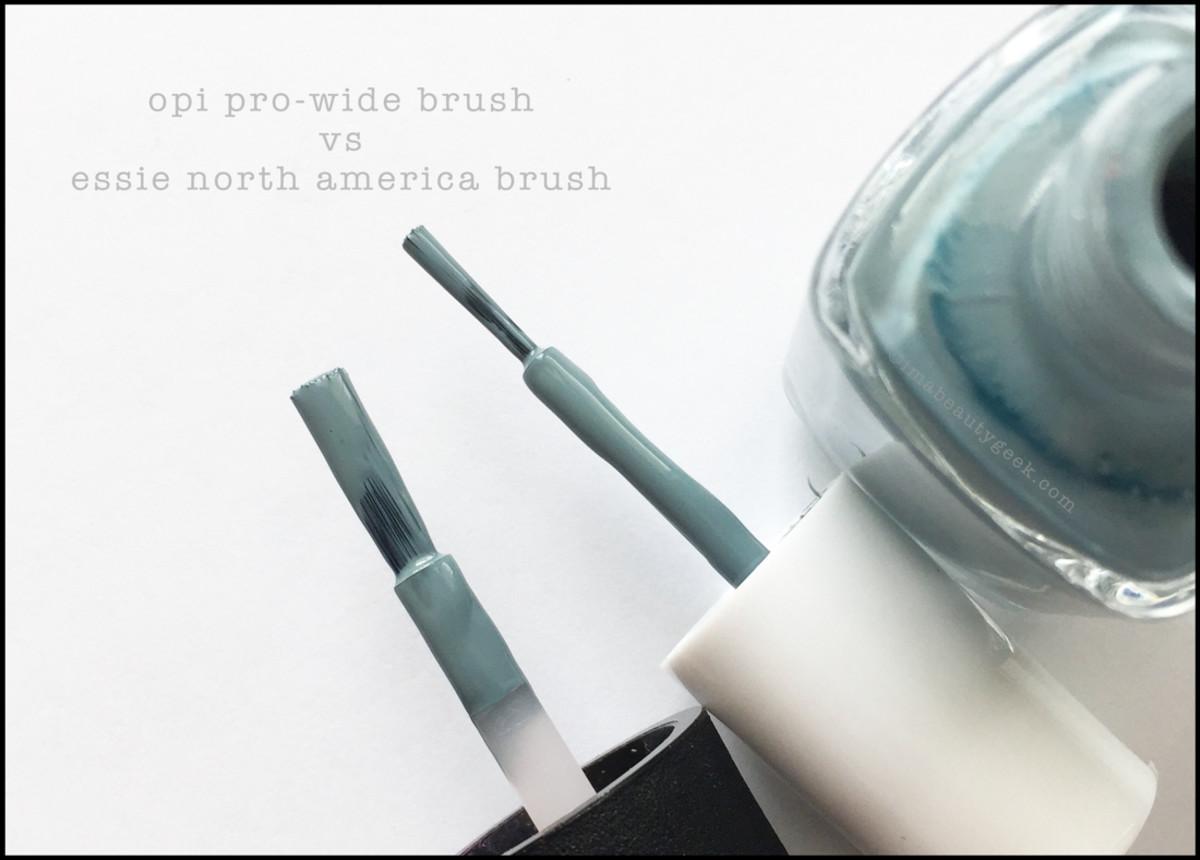 OPI Pro-Wide Brush vs Essie North America Brush