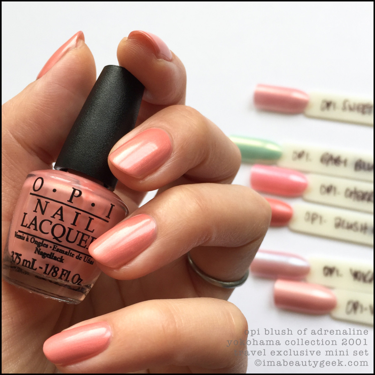 OPI Blush of Adrenaline NL Y33 - OPI Yokohama Collection 2001 Swatches