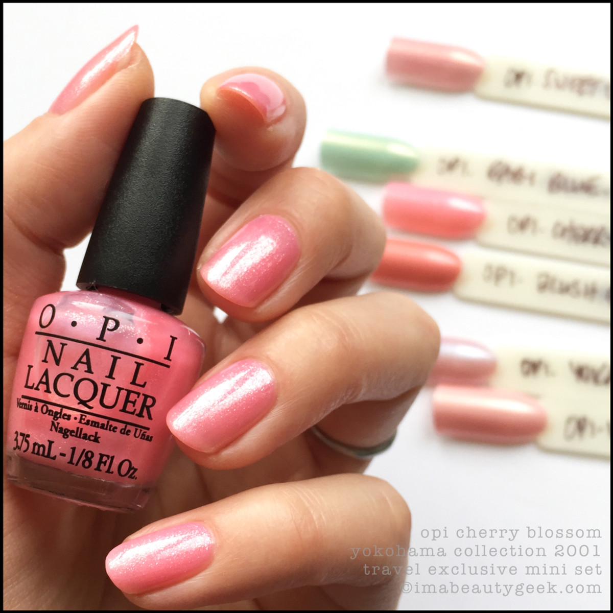 OPI Cherry Blossom_OPI Yokohama Collection 2001 Swatches