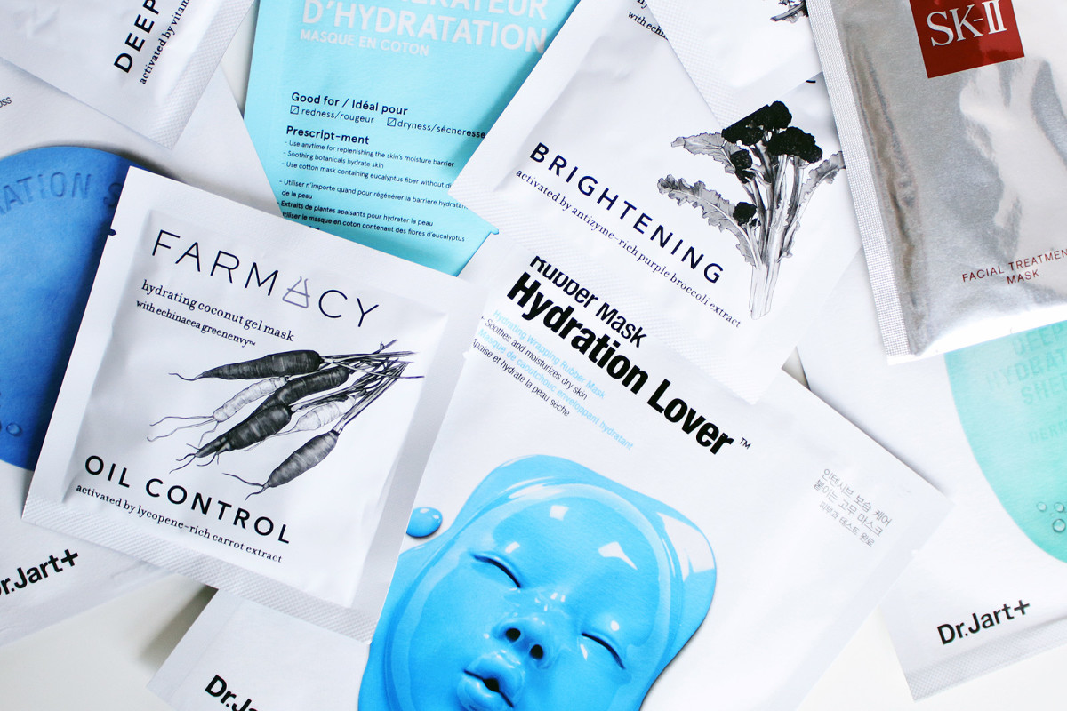 These are some of my favourite things: sheet masks by Dr. Jart+, Farmacy and SK-II