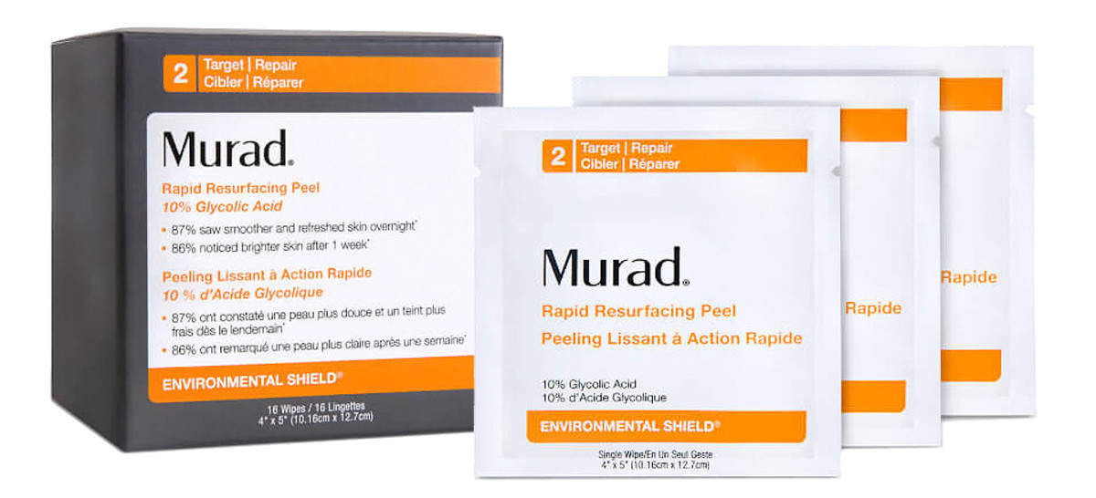 Murad Rapid Resurfacing Peel 10% Glycolic Acid Wipes