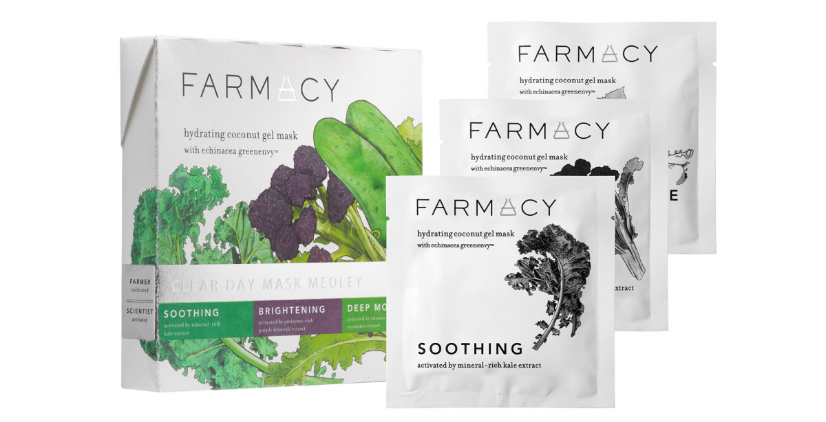Farmacy Hydrating Coconut Gel Masks: Clear Day Mask Medley