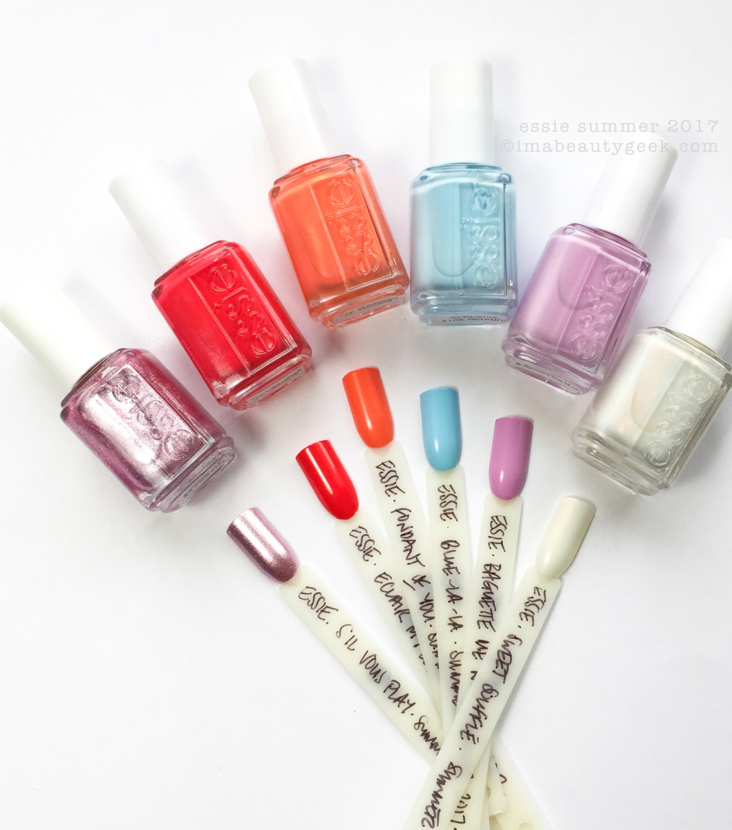 ESSIE SUMMER 2017 COLLECTION SWATCHES REVIEW SIL VOUS PLAY ...