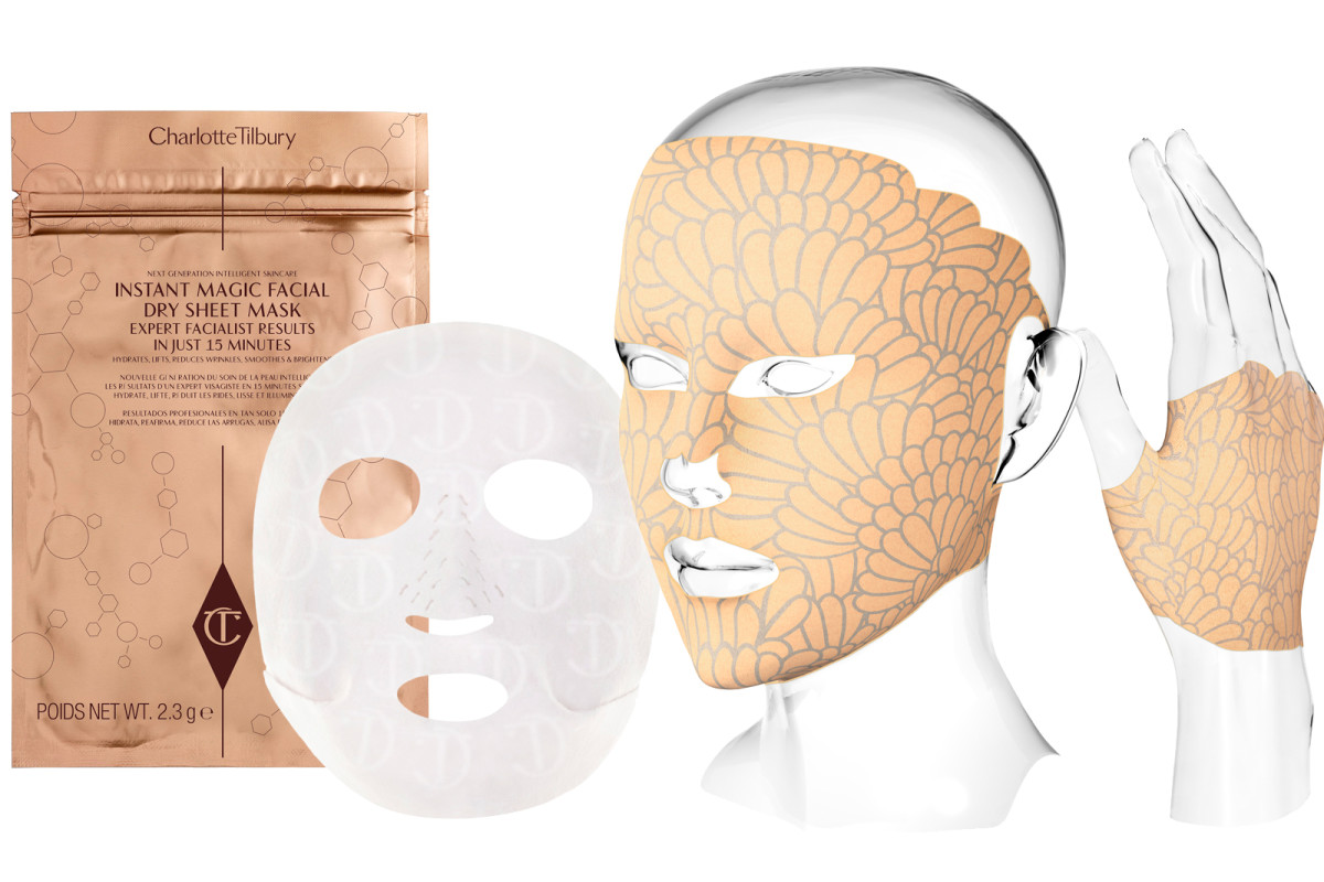 Charlotte Tilbury and Nannette de Gaspé dry sheet masks