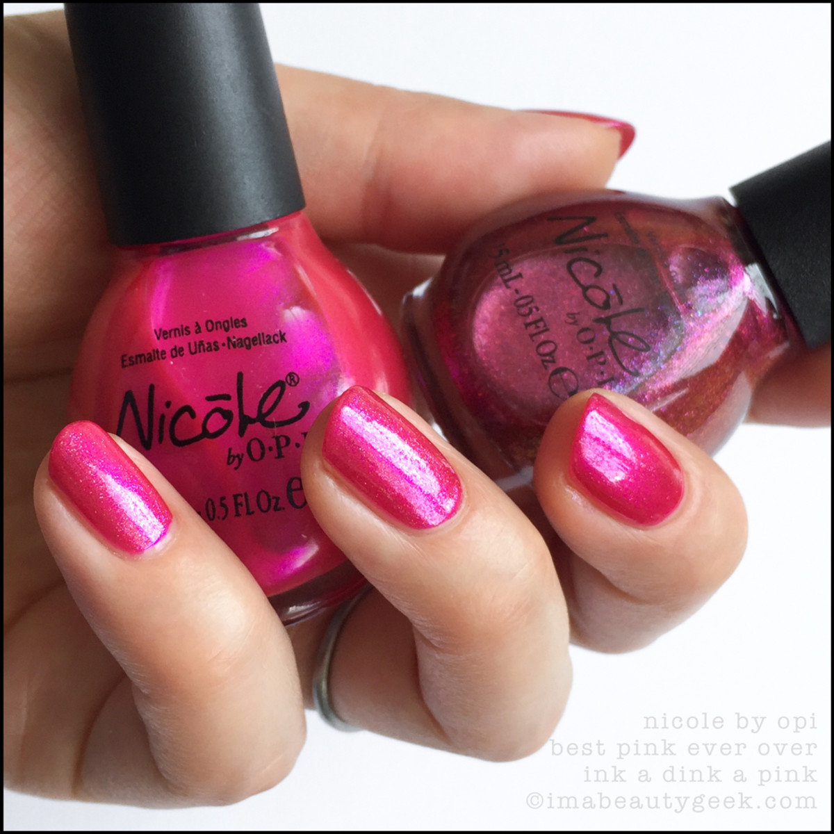 Nicole by OPI Best Pink Ever with Ink a Dink a Pink_Nicole by Opi Swatches