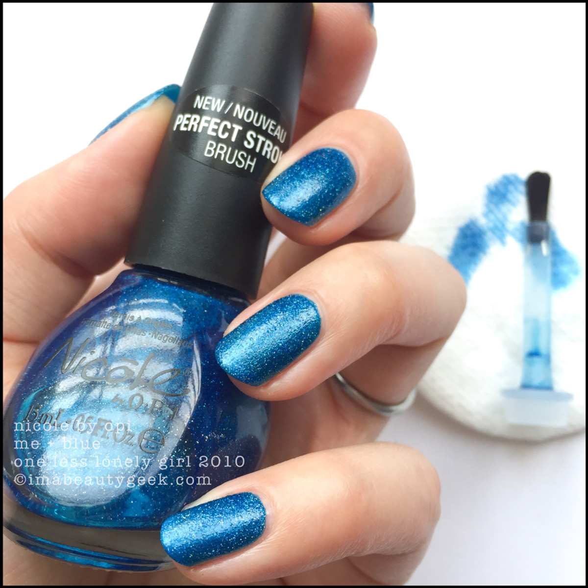 Nicole by OPI Me + Blue - no top coat