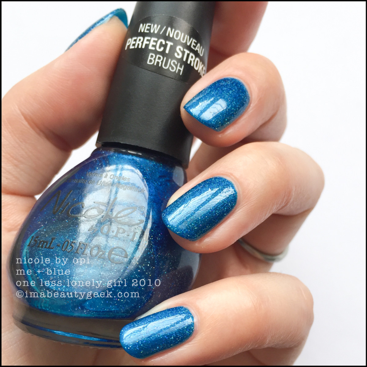Nicole by OPI Me + Blue w Top Coat_Nicole by OPI Swatches