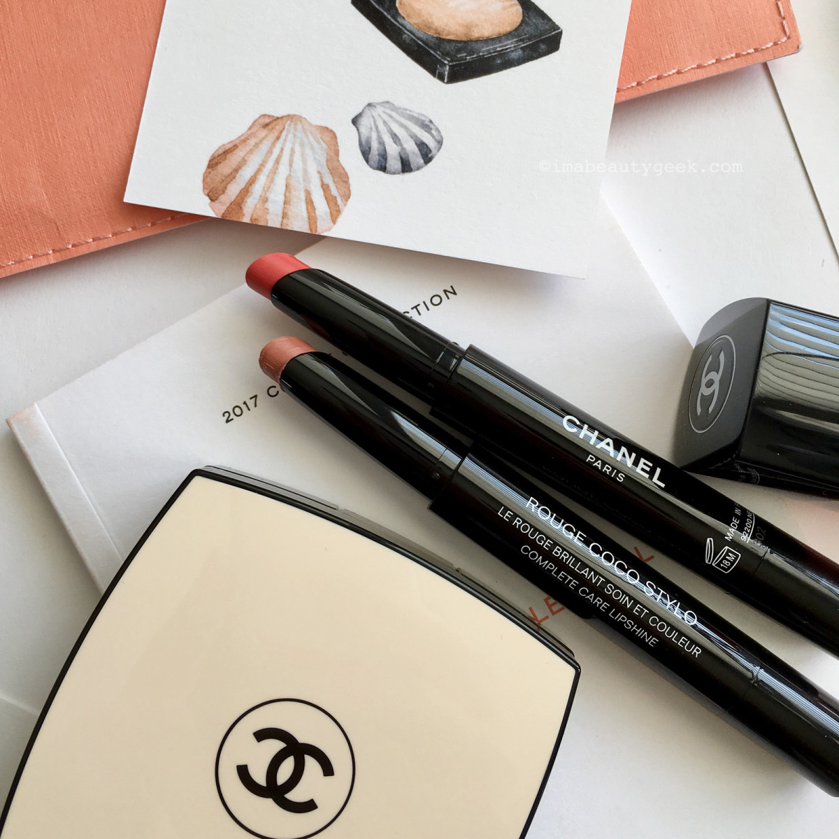 CHANEL Summer 2017 Cruise Collection Rouge Coco Stylo in Panorama and Esquisse
