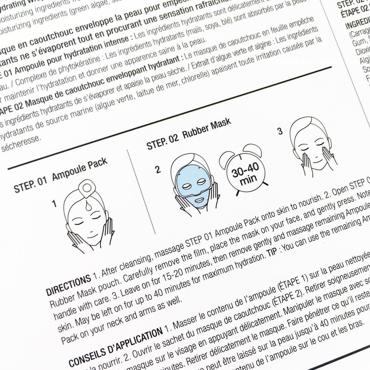 Dr. Jart Hydration Lover Rubber Mask directions