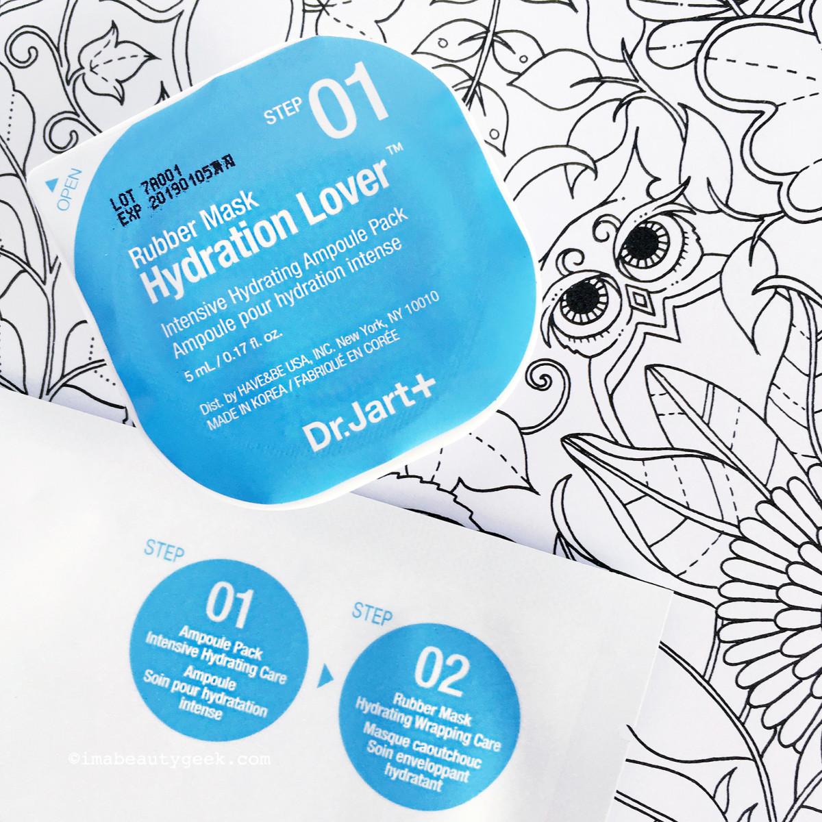 Dr. Jart Hydration Lover Rubber Mask: Step 1 ampoule