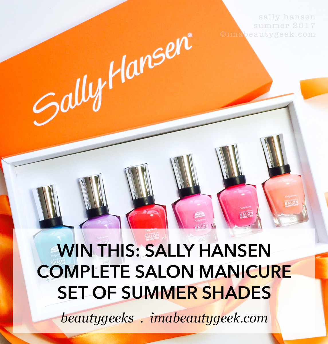 Sally Hansen Complete Salon Manicure set of summer shades 2017: WIN THIS!
