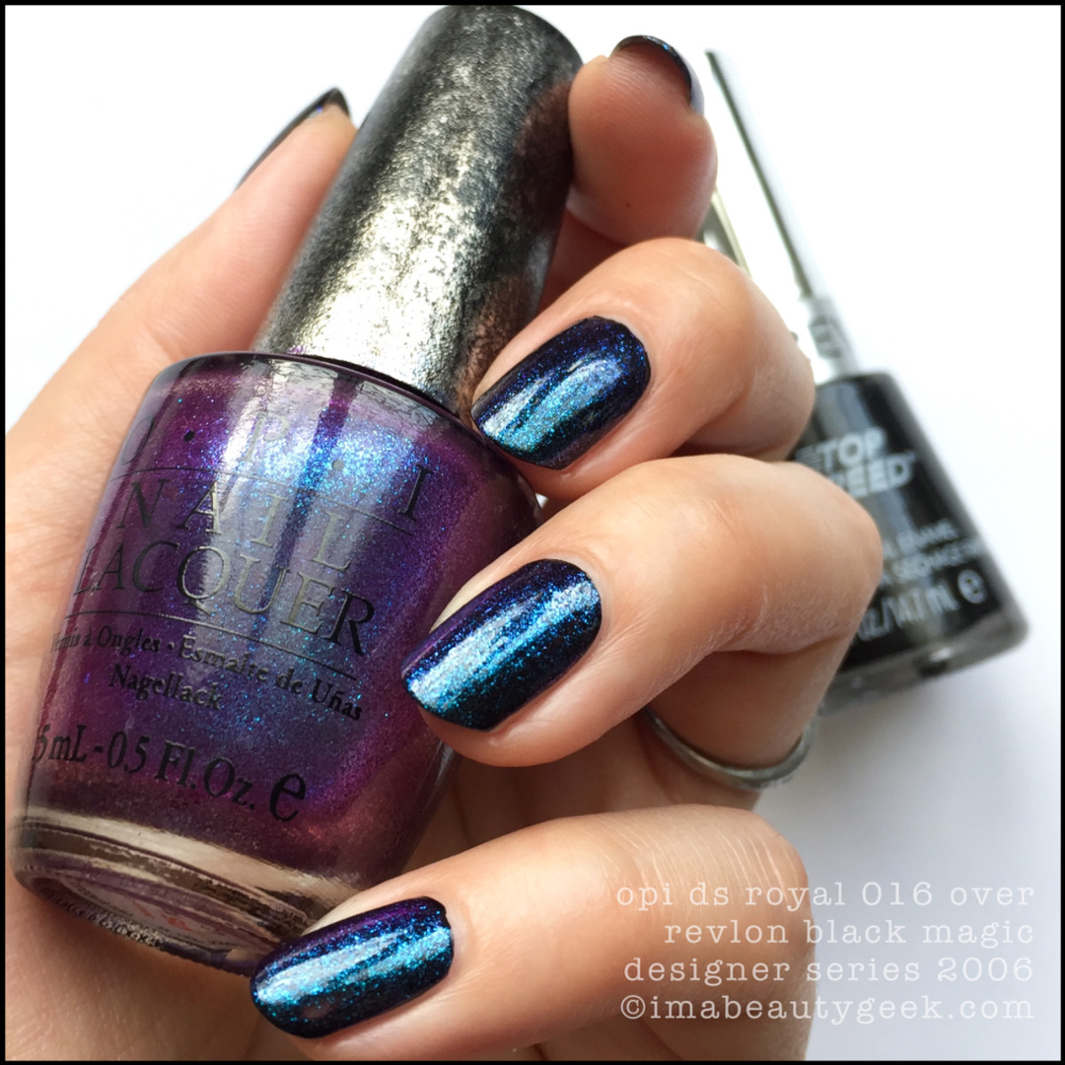 OPI Designer Series Royal 016 over Black_1