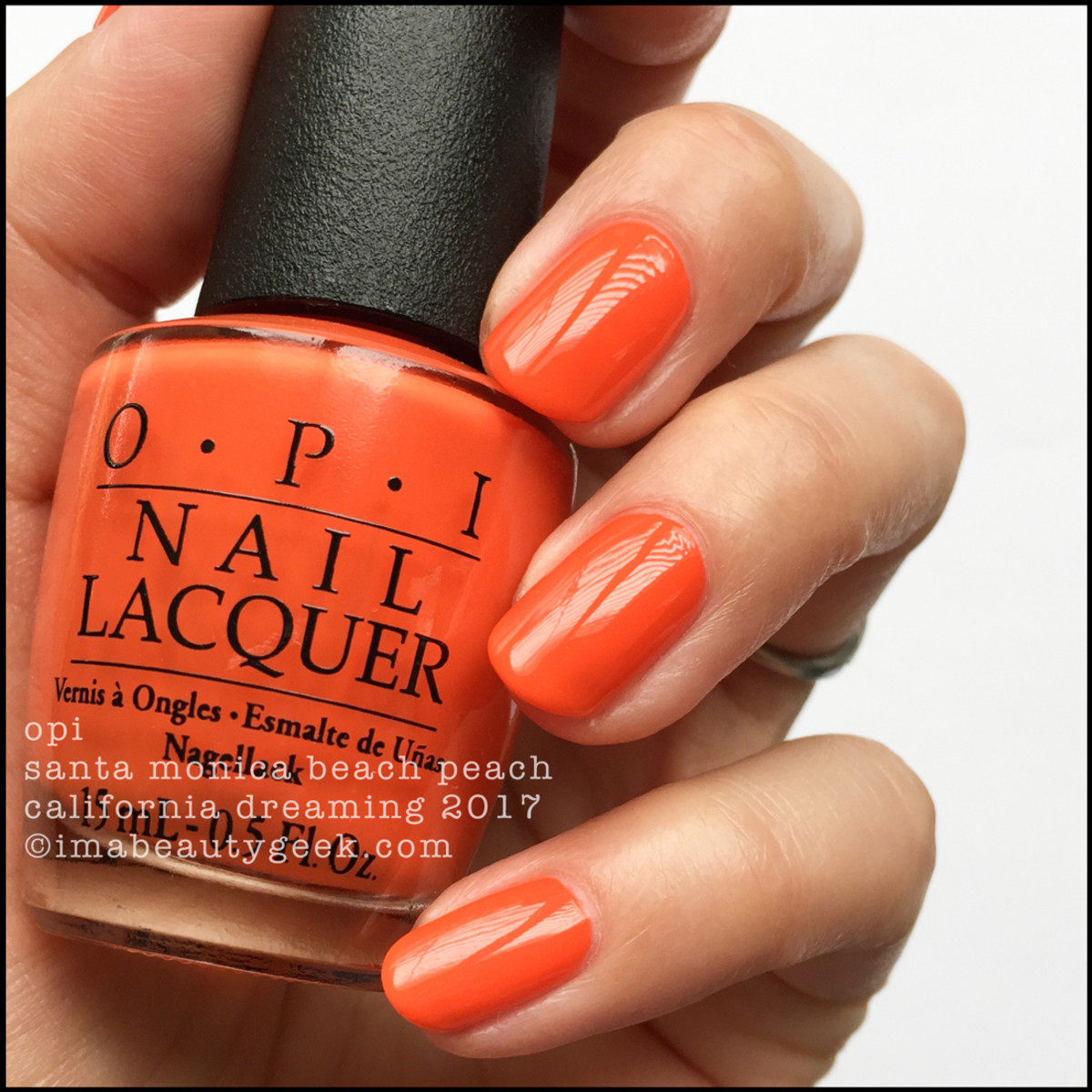 OPI Santa Monica Beach Peach _ OPI California Dreaming Collection Swatches 2017
