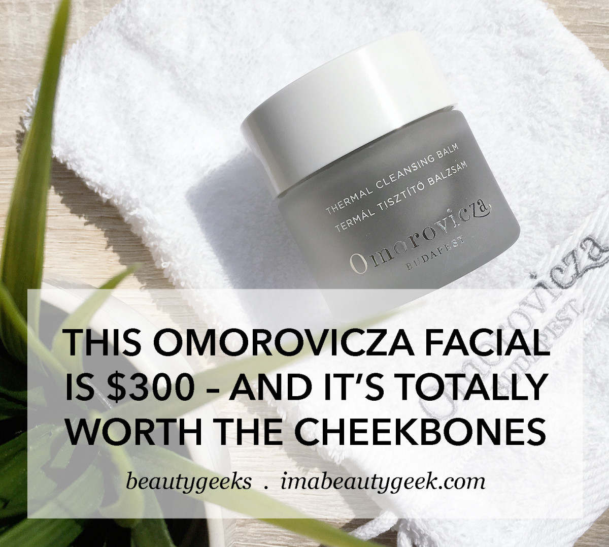 Omorovicza Thermal Cleansing Balm plus full-size Cleansing Mitt used in the Gold Plumping Facial