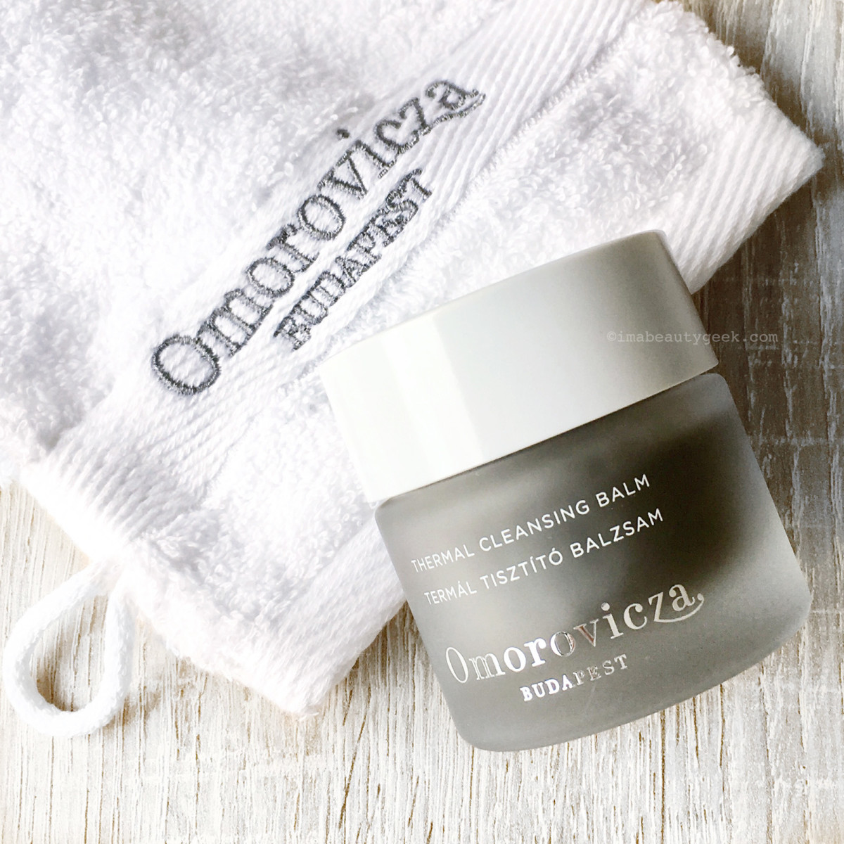Omorovicza Thermal Cleansing Balm and full-size Cleansing Mitt
