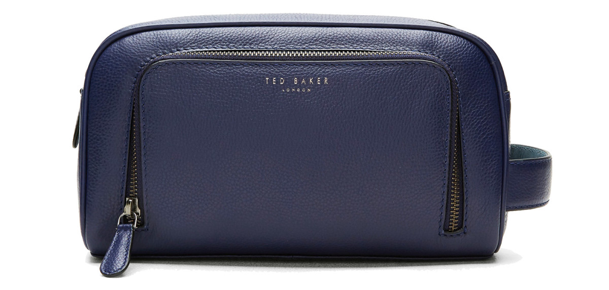 Ted Baker Onyahed Leather Wash Bag or Dopp Kit