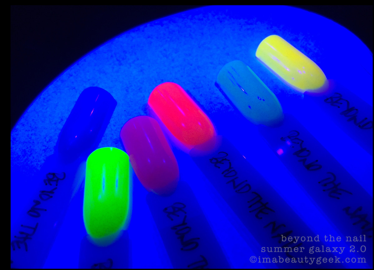 Beyond the Nail Summer Galaxy 2.0 Collection - under UV light