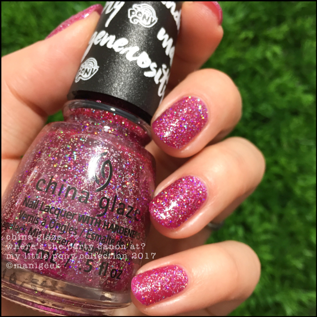 China Glaze Where's The Party Canon At? - China Glaze My Little Pony Swatches Review 2017