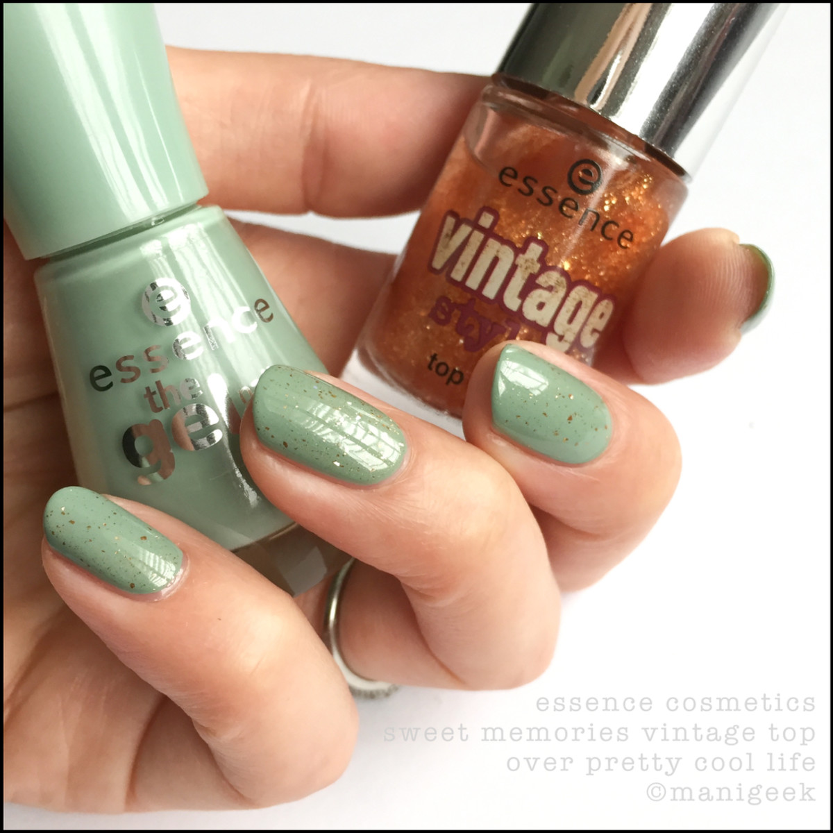 Essence Vintage Sweet Memories Top Coat over Pretty Cool Life