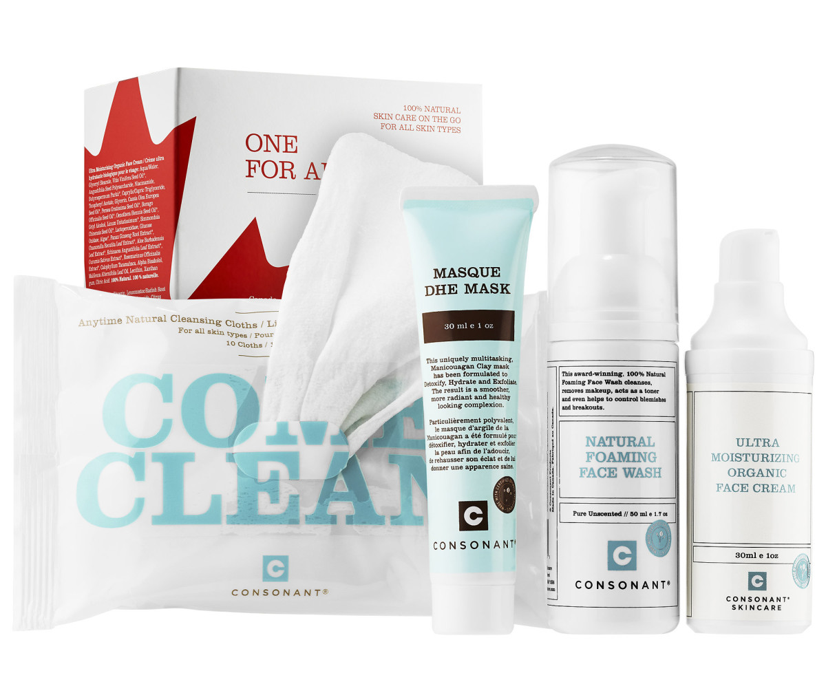 Consonant One for All travel-friendly natural skincare kit