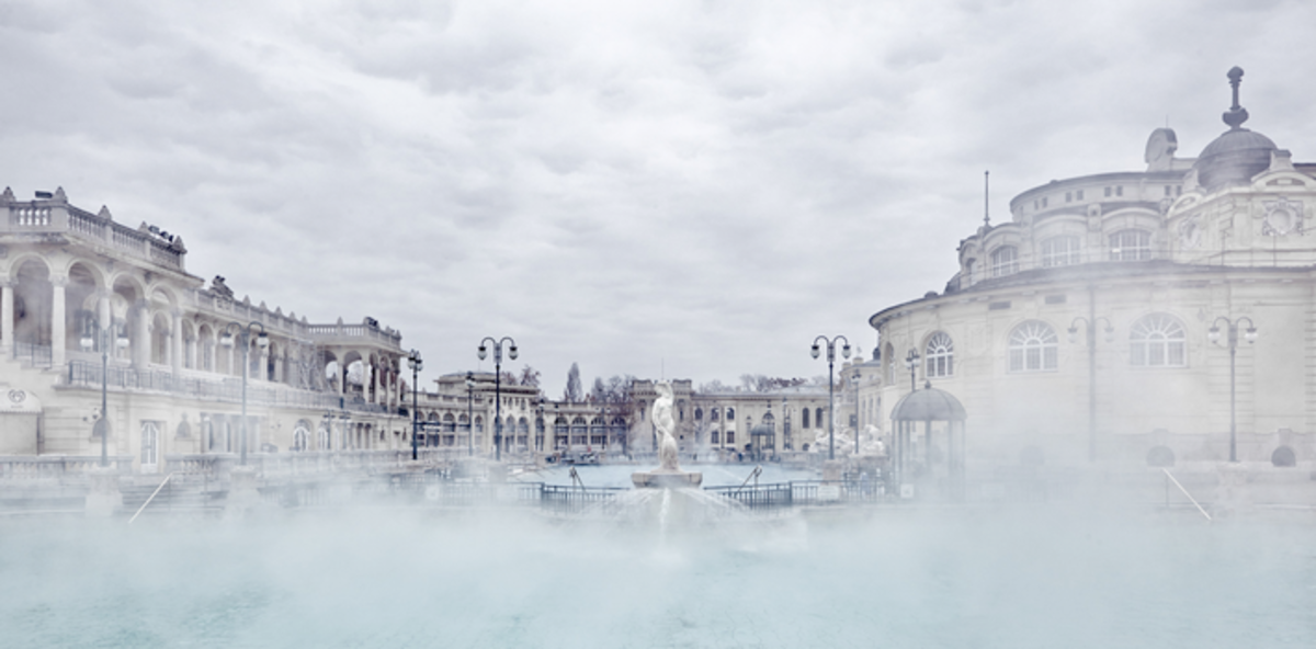 The Racz Spa in Budapest, Hungary, was built in the 1800s over a medieval spring