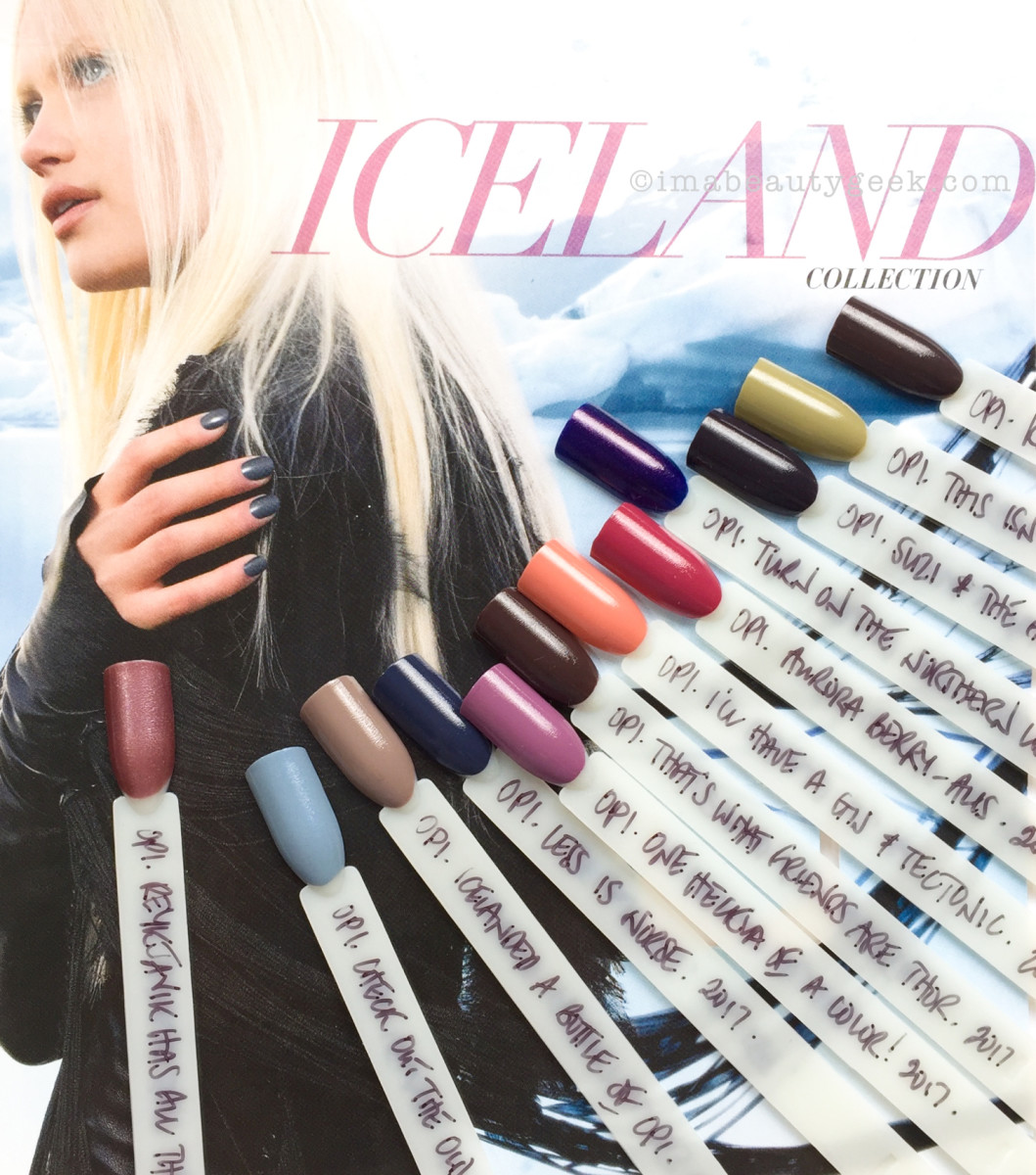 OPI ICELAND SWATCHES AND REVIEW FW 2017 COLLECTION ...