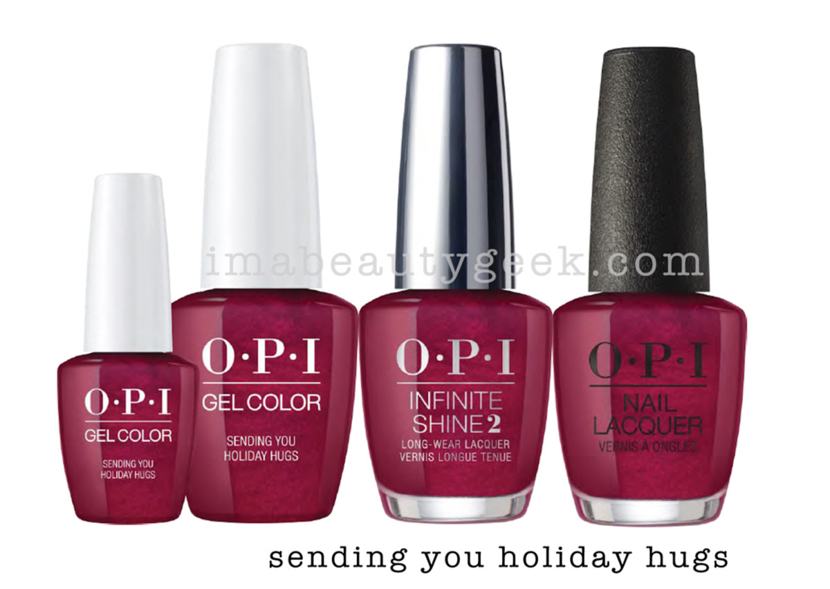 OPI Sending You Holiday Hugs - OPI Holiday 2017 PromoShot