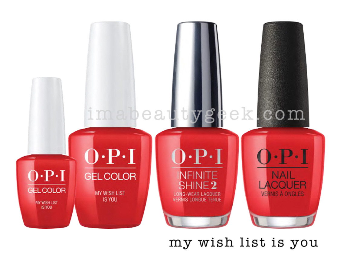 OPI My Wish List Is You - OPI Holiday 2017 PromoShot