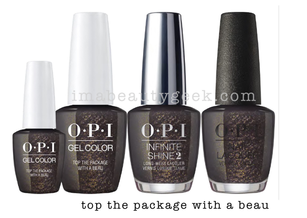 OPI Top The Package With A Beau - OPI Holiday 2017 PromoShot