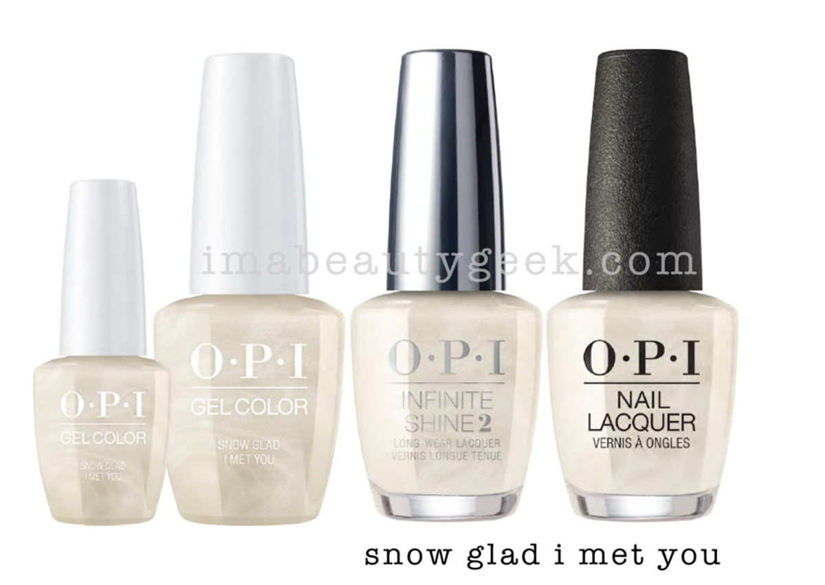 OPI Snow Glad I Met You - OPI Holiday 2017 PromoShot