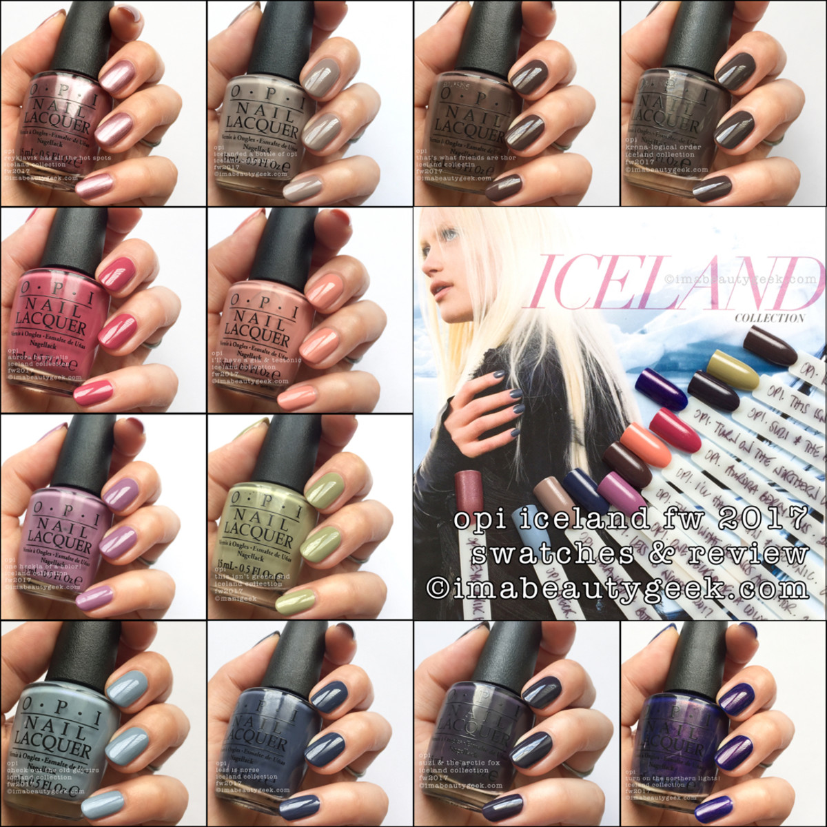 OPI Iceland Swatches Review 2017 FW Beautygeeks Composite